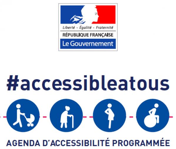 Accessible à tous - logo