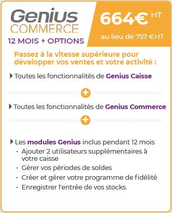 Genius commerce - licence 12 mois + option